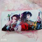Anime Demon Slayer Kimetsu No Yaiba Kamado Tanjirou Pencil Case Cute Canvas  Zipper Pencil Bag Penci