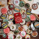 46Pcs Vintage Label Decor Sticker Cute Travel Stationery Stickers List Diary Sticker For Kids DIY Sc