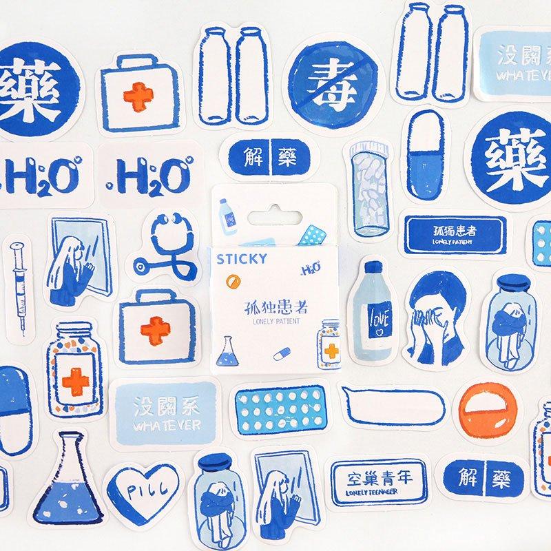 Mr.paper 46Pcs/box Cute Diary Stickers Scrapbooking Girl Generation Series Planner Japanese Kawaii D
