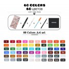 TOUCHCOOL Art Marker 262 Color Alcohol Based Marker Pen Watercolor Brush Pen Sketch Marker Dual Tip