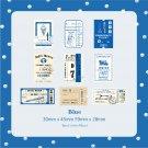 Mr.paper 45Pcs/pac Vintage Ticket Travel Creative Stickers Label Bullet Journal Album Srapbooking Cr
