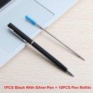 2/11/20/PCS  New Arrival Core Metal Ballpoint Pens Rotating Metal Old Oil Pens 0.7mm Blue Black Ink