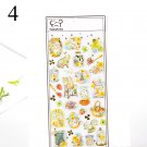 Cute Cat Planet Stickers Kawaii Crystal Stickers Acrylic Decoration Stickers Kids DIY Diary Scrapboo