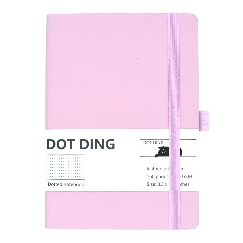 New Arrived Bullet dotted journal paper A5,leather softcover, 160 pages, ivory white paper 100 GSM,