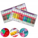 12 Colors  Wall Painting  Acrylic Paints set for Painting Textile Fabric Manicure Nail Art with 1 Br