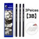 Maries Black Sketch Pencil Professional Drawing Pencil HB 2H B 2B 3B 4B 5B 6B 7B 8B 10B 12B 14B Art