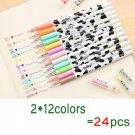 Jonvon Satone Creative Stationery Milky Cow 12 Color Diamond Pen Gel Korean Cartoon Stationery Whole