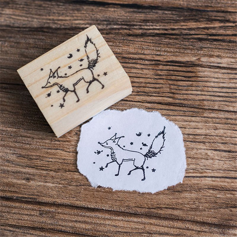 Mr Paper Dreamy Cartoon Little Prince Rose Fox Wooden Rubber Stamps for Scrapbooking Decoration DIY