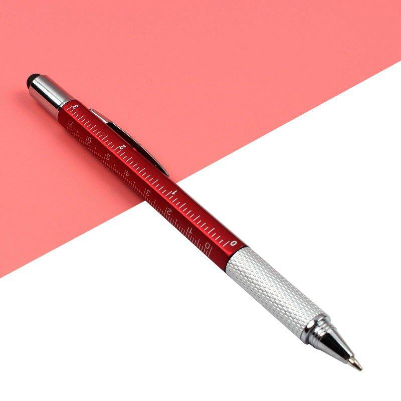 7PCS/Set Multifunctional Ballpoint Pen Overvalue Handy Tech Tool Ballpoint Pens Screwdriver Ruler Sp