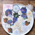 Mr.paper 8 Designs 60Pcs/lot Gold Stamping Universe Constellations Stars Deco Stickers Scrapbooking
