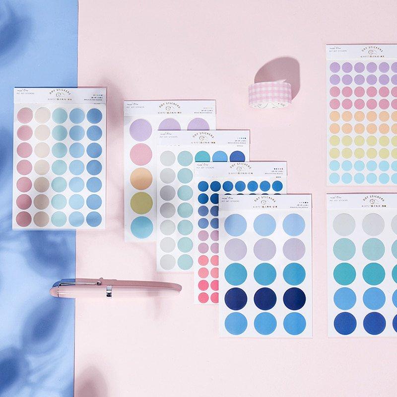 Journamm 120pcs dot Morandi earth color scrapbook album photo wall journal project making happy card