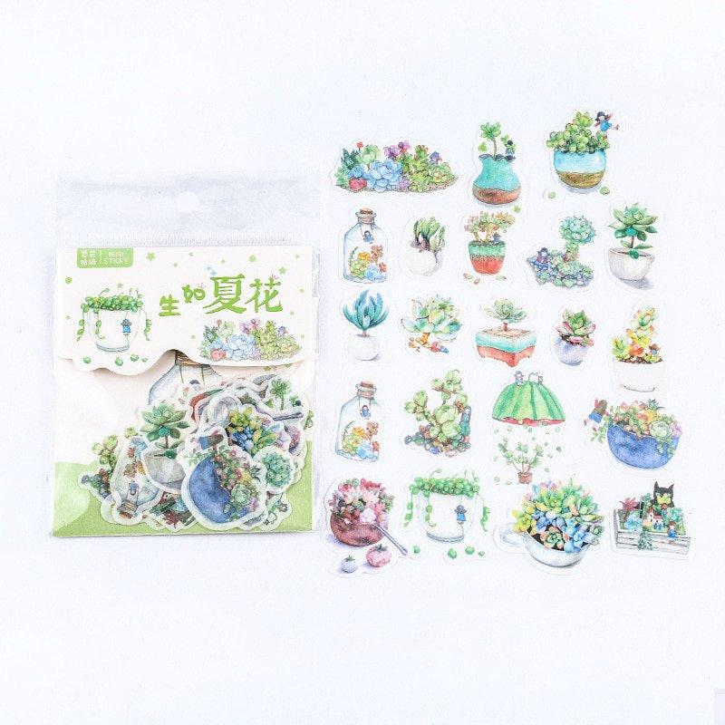 Mr.paper 40Pcs/bag Japanese Kawaii Cartoon Comic Magic Deco Diary Stickers Scrapbooking Planner Deco
