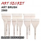 2560 high quality goat hair wooden handle copper wire twisted art paint brushes artistic painting br