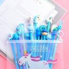 Students Creative pink cute girl pink cartoon neutral pen  Black 0.5mm signature pen  20 office  fre