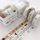 5pcs/set Printing Washi Tape Set Diy Masking Tape Cute Stickers School Suppliers Stationery Gift Pre