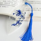 Waterproof Transparent PVC Plastic bookmarks Chinese style bookmark Tassel Bookmarks Collectibles le