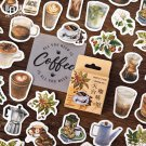 46Pcs/Pack Gardenia Colorful Pattern Colored Sticky Stickers Decoracion Boxed Scrapbook Office Stati