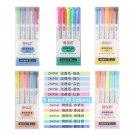 25 Colors/box Mildliner Highlighter Pen Fluorescent Markers Double Headed Highlighters Art Marker Ar