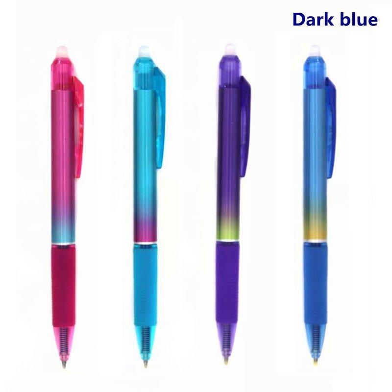 4pcs/set Rainbow Erasable Pen Washable Handle 0.5mm Blue/Black Press Gel Pen for Girl Boy School Off