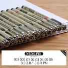 Sakura 4-13 Different Size Pigma Micron Needle Pen XSDK Black Marker Brush Pen Liner Pen for Sketch