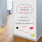 Whiteboard Wall Sticker Self-adhesive Message White Board Removable Drawing Writing Teaching Board F