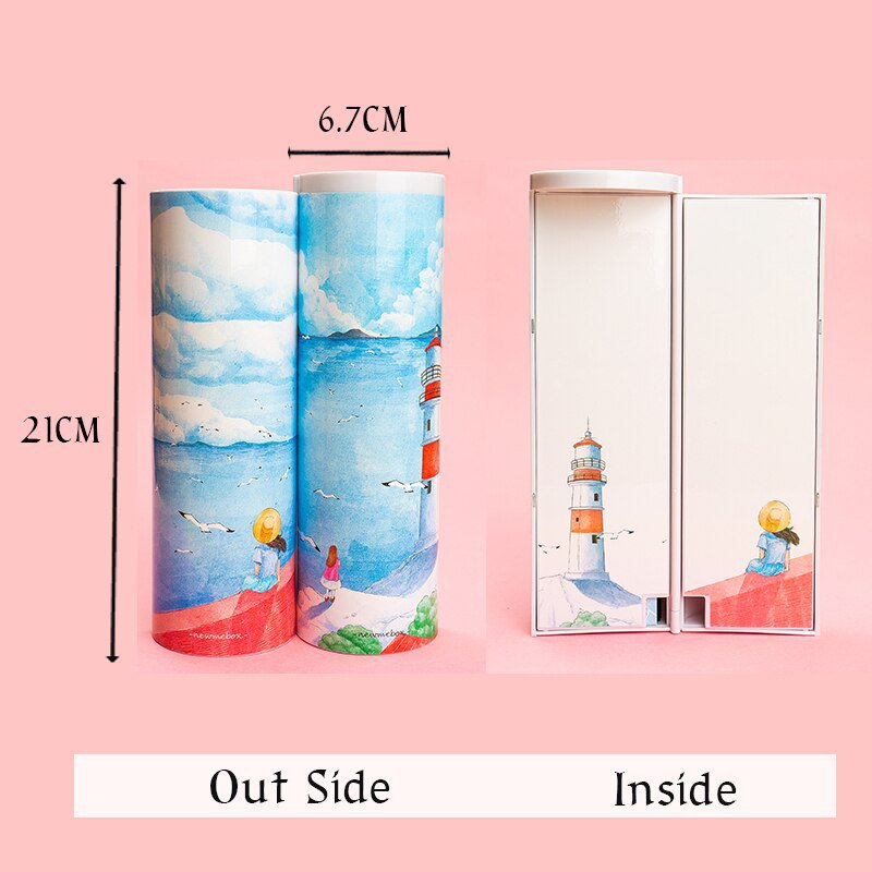 NBX Newmebox Students' Favorite  Large Capacity Colorful Pencil Case Art Pen Box School Stationery
