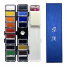 Superior 18/38/58Colors Fold Solid Watercolor Paint Set With Water Brush & Gifts Box Watercolor