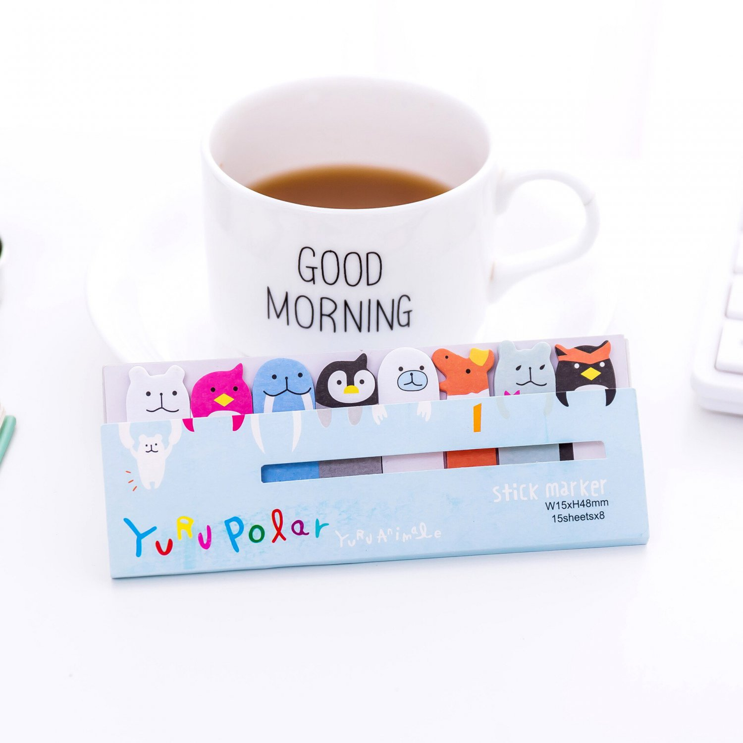 Sticky Notes  Kawaii Memo Pad Creative Bookmarks Cute Animal index Posted It Planner Stationery Scho
