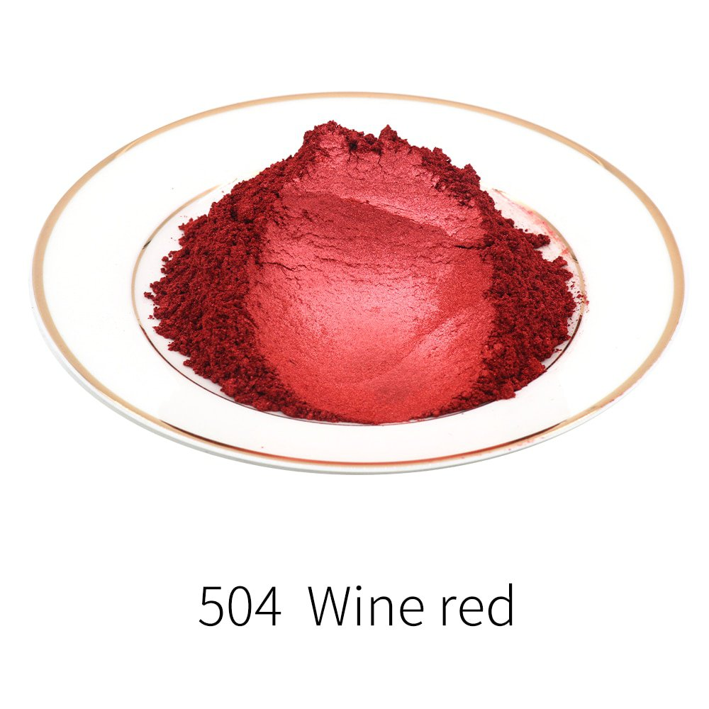 Pigment Pearl Powder Mineral Mica Powder DIY Dye Colorant 10g 50g Type 504 Pearlized Dust for Soap E