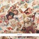 YUEGUANGXIA 100pcs/box Retro Story Old Letter Flower FairyKraft Paper Bullet Journaling DIY  Scrapbo