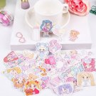 44pcs/lot Cute Girl Diary Planner Decorative Stickers Adhesive Stickers Kawaii Animals Scrapbooking