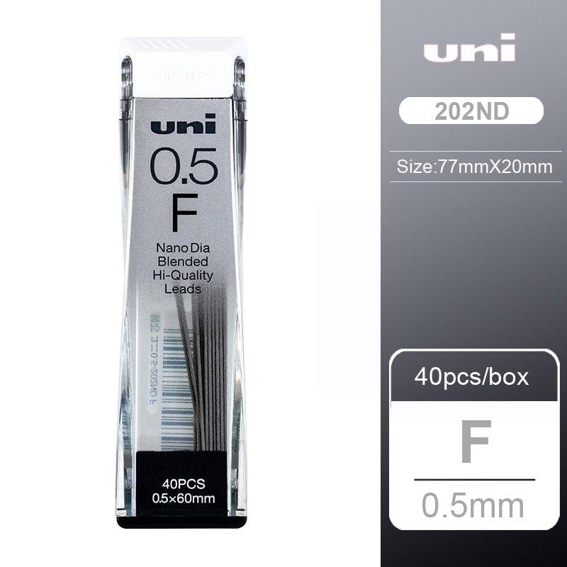 1pcs UNI Lead 0.3/0.5/0.7/0.9-202ND Nano Diamond Extra Hard Automatic Pencil Refills Pencil Lead Bla