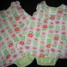 CARTERS CUTE MOD FLOWERS ONE PIECE SUNSUIT OUTFIT 12MO