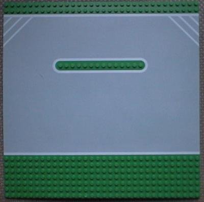 LEGO BASEPLATE BASE PLATE GREEN FAST TRACK RACE FINISH