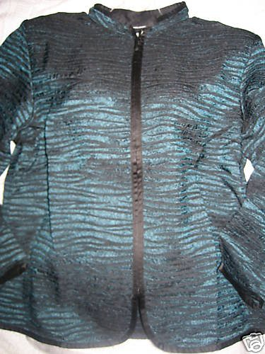NEW COLDWATER CREEK CRINKLE  TAPESTRY JACKET PETITE PL