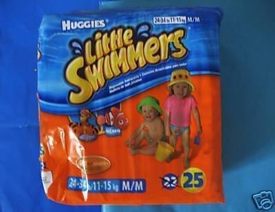 NEW LOT HUGGIES LITTLE SWIMMERS DIAPERS SWIM M 23-34 LB