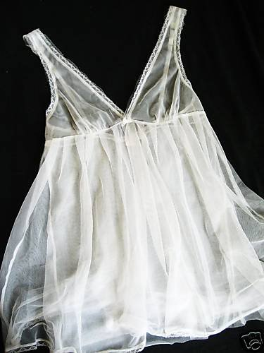 NEW VICTORIA SECRET SILK SHEER WHITE TULLE BABYDOLL S