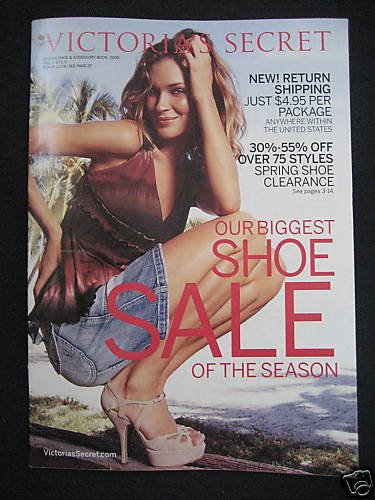 NEW VICTORIA SECRET SPRING SHOE ACCESSORY BOOK 2005