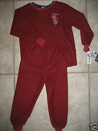 NWT CARTERS BOYS BASKETBALL SUPER SOFT FLEECE PAJAMAS 5