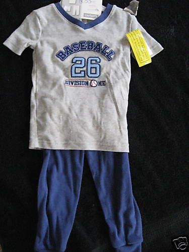 NWT NEW  CARTER BASEBALL PJ PAJAMAS LOT 24MO 24