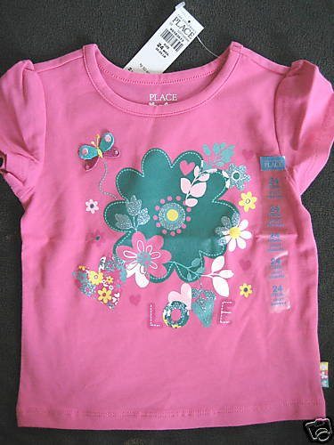 NWT TCP CHILDRENS PLACE BUTTERFLY FLOWER YOGA SHIRT 24m