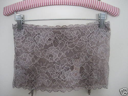 NWT VICTORIA SECRET WIDE  LACE GARTER SKIRT THONG S