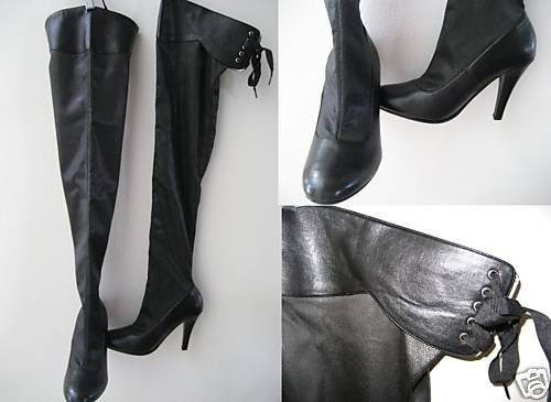 VICTORIA SECRET OVER THE KNEE LACE UP RIDING BOOTS 8.5