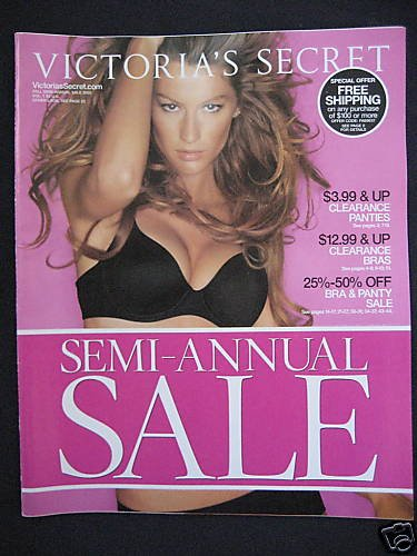 VICTORIA SECRET SEXY GISELE PINK CATALOG 2005