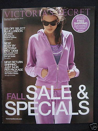 VICTORIA SECRET FALL SALES SPECIALS CATALOG 2005