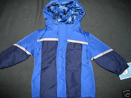 NWT BOYS HEAVY 4-IN-1 JACKET COAT WINTER BLUE 18MO 18