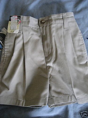 NWT BOYS TODDLER DRESS KHAKI TAN UNIFORM SCHOOL SHORT 4