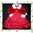 NWT GIRLS HOLIDAY CHRISTMAS  MARABOU RED DRESS CAPE 6