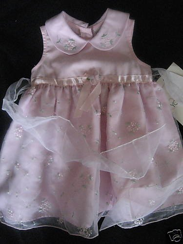 NWT PINK TWIRL PRETTY EASTER FORMAL DRESS 24mo GIRLS