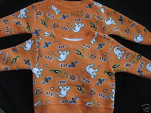 NEW TWINS HALLOWEEN SWEATSHIRT LOT BOYS GIRLS  6 9 MO